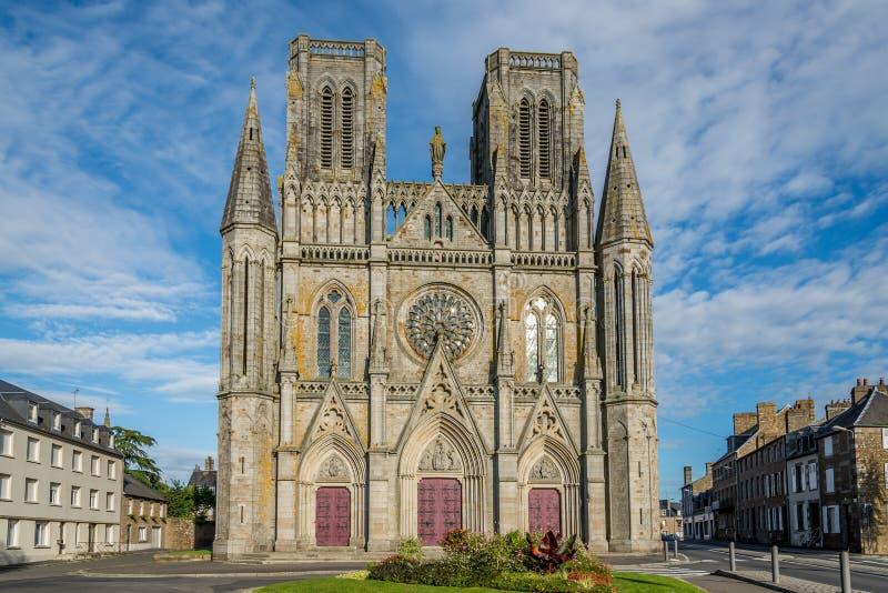 教会Notre Dame des Champsin阿夫朗什 库存图片