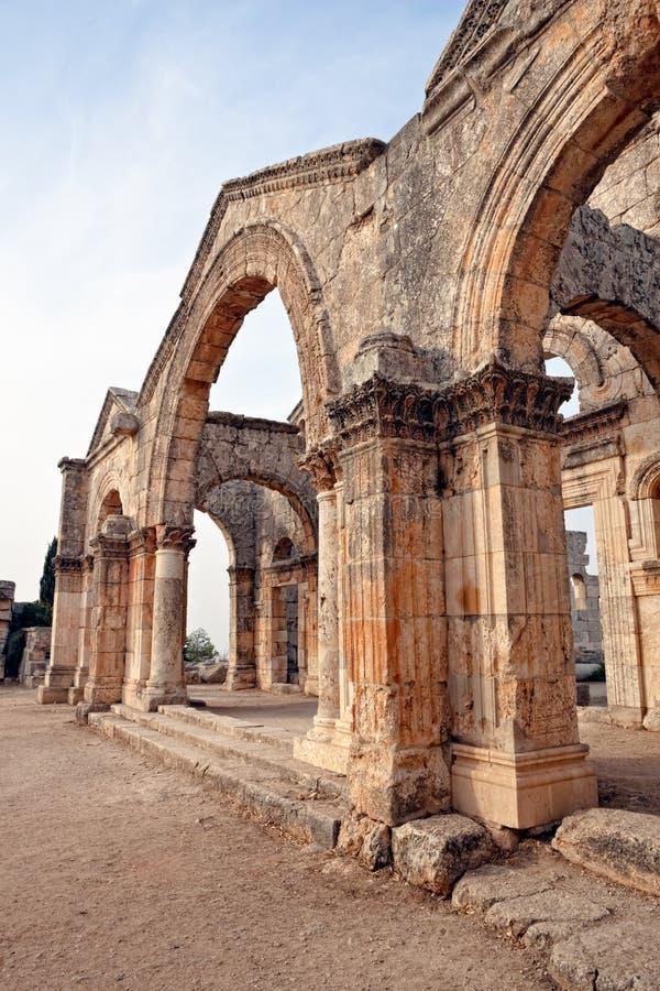 教会qal sim simeon st叙利亚 库存照片