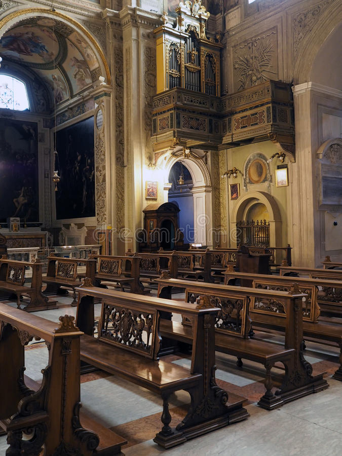教会Santi Cosma e达米亚诺在罗马 库存图片