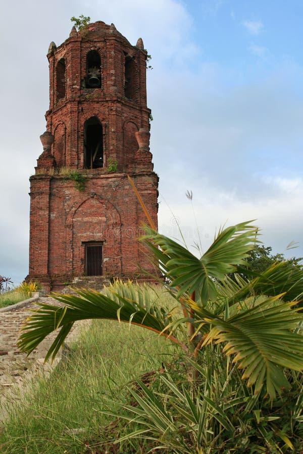 教会vigan玛丽亚・菲律宾圣诞老人的塔 免版税库存照片