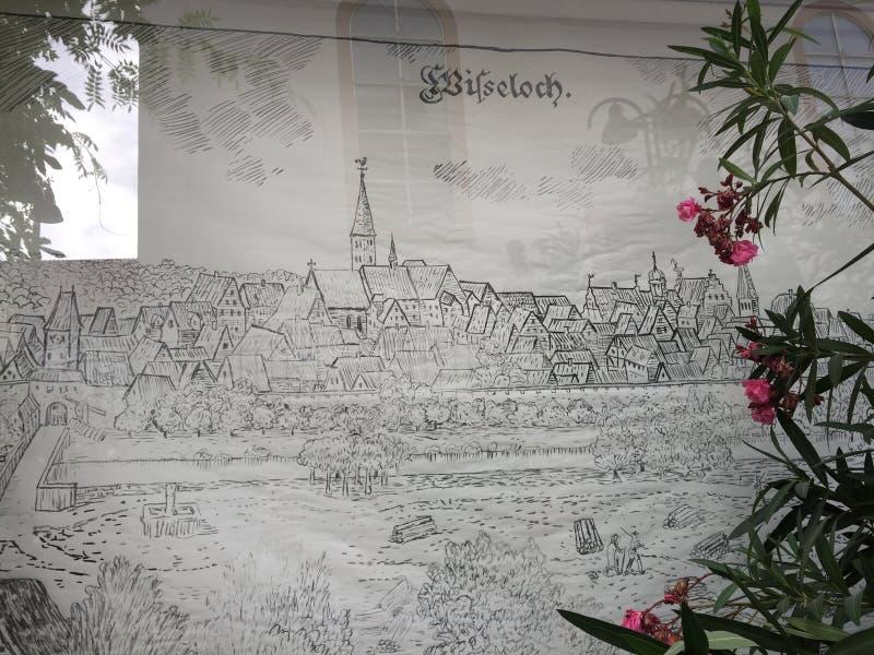教会wiesloch在德国 图库摄影