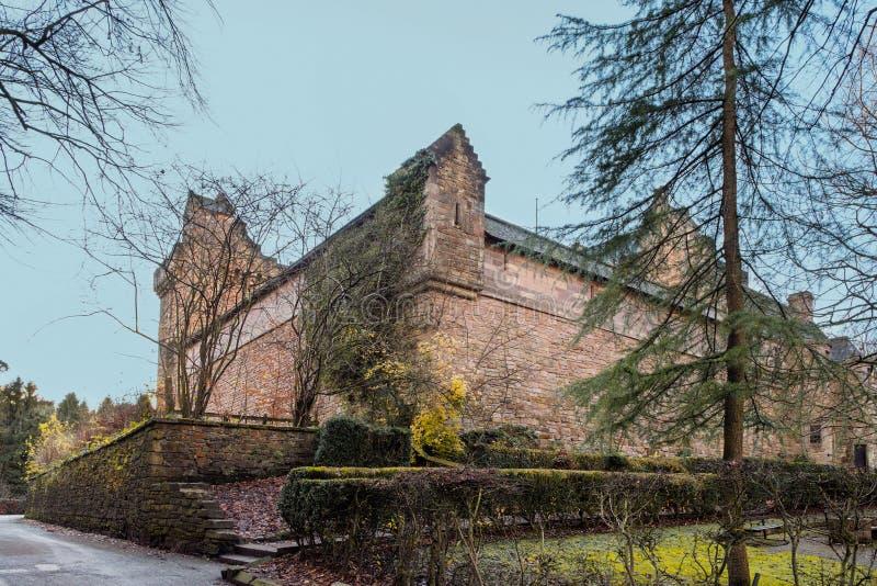 教务长城堡庄严大厦在东艾尔郡基尔研究所Sc的 免版税库存照片