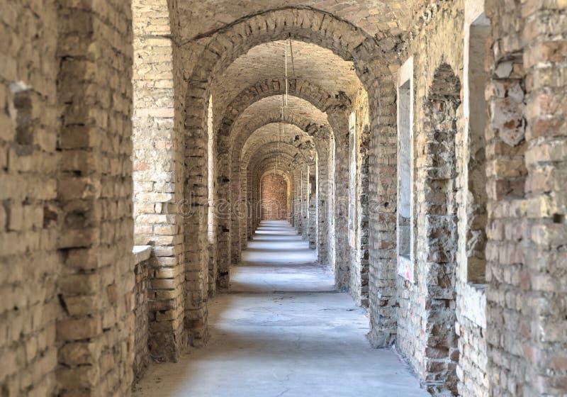 主教城堡kielce宫殿波兰s隧道 免版税库存图片