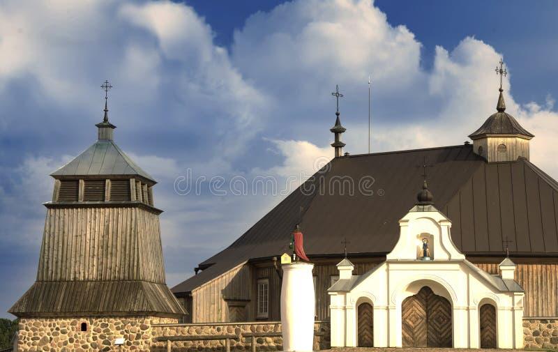 教堂和生母玛丽访问教会前面词条  免版税库存图片
