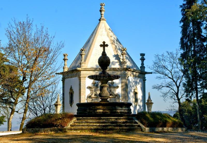 教堂在Bom耶稣公园在拉格 库存照片
