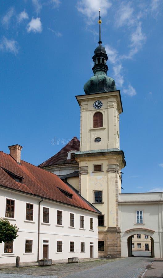教堂在Smirice,捷克共和国 库存图片