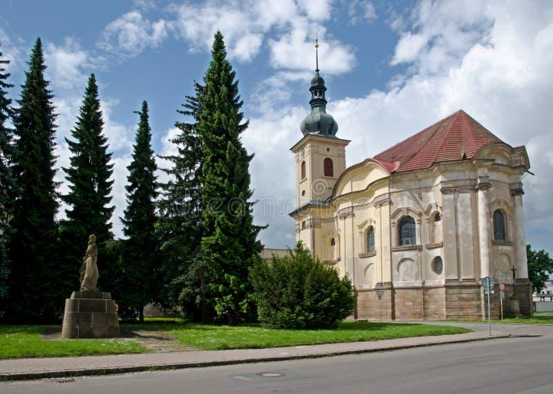 教堂在Smirice,捷克共和国 免版税图库摄影