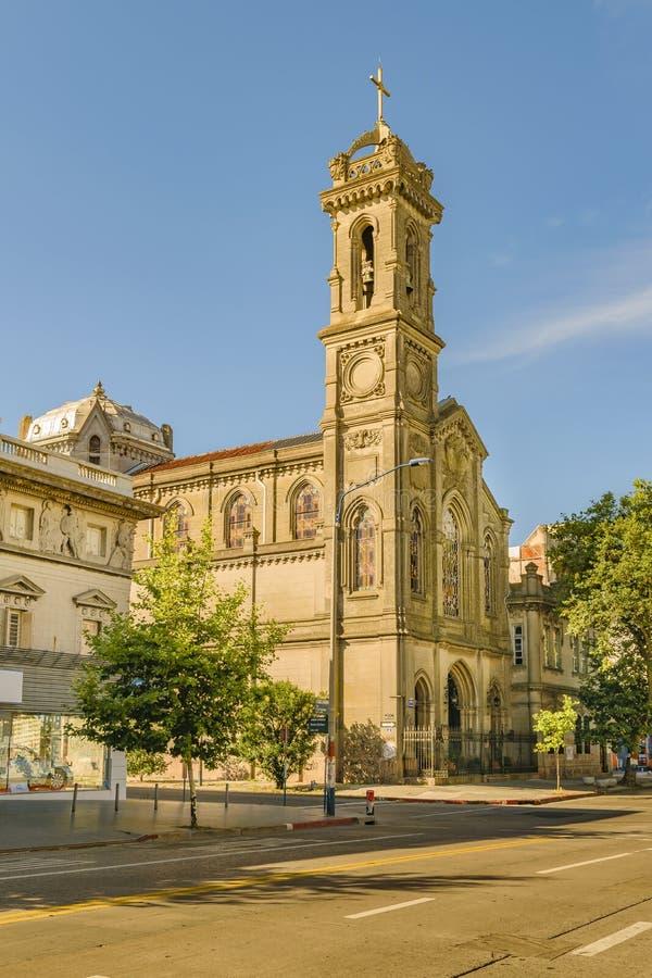 教堂外视图,蒙得维的亚,乌拉圭 库存照片