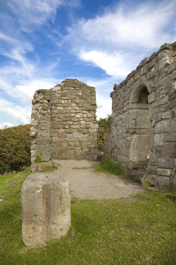 教堂废墟 免版税库存图片