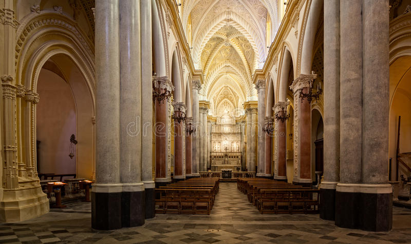 主教堂,埃里切 图库摄影