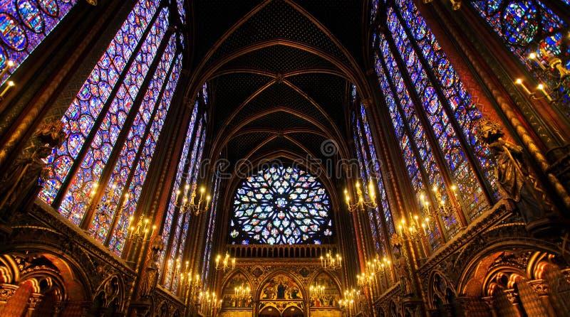 教堂chapelle巴黎sainte 免版税库存照片