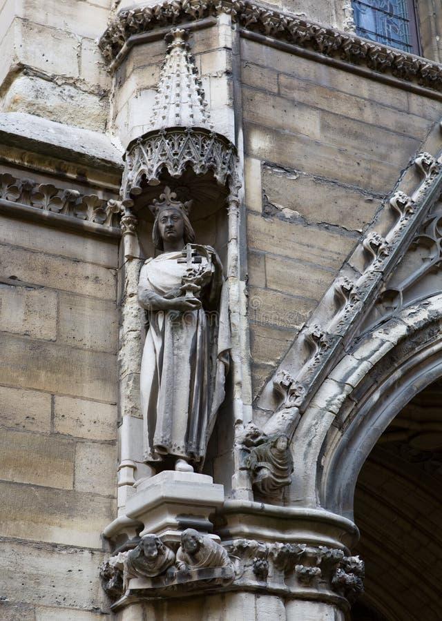 教堂chapelle la sainte雕象 免版税库存图片