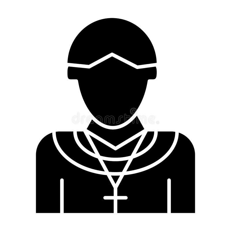 教士固体象 在白色隔绝的基督徒传染媒介例证 神父纵的沟纹样式设计,设计为网和 皇族释放例证