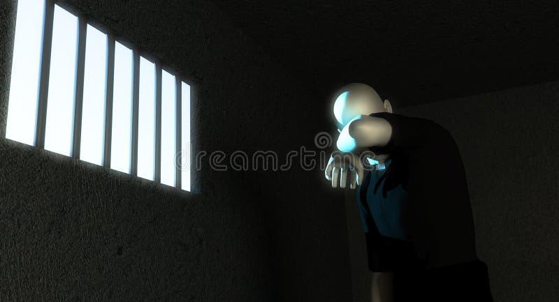 教士在监狱 向量例证