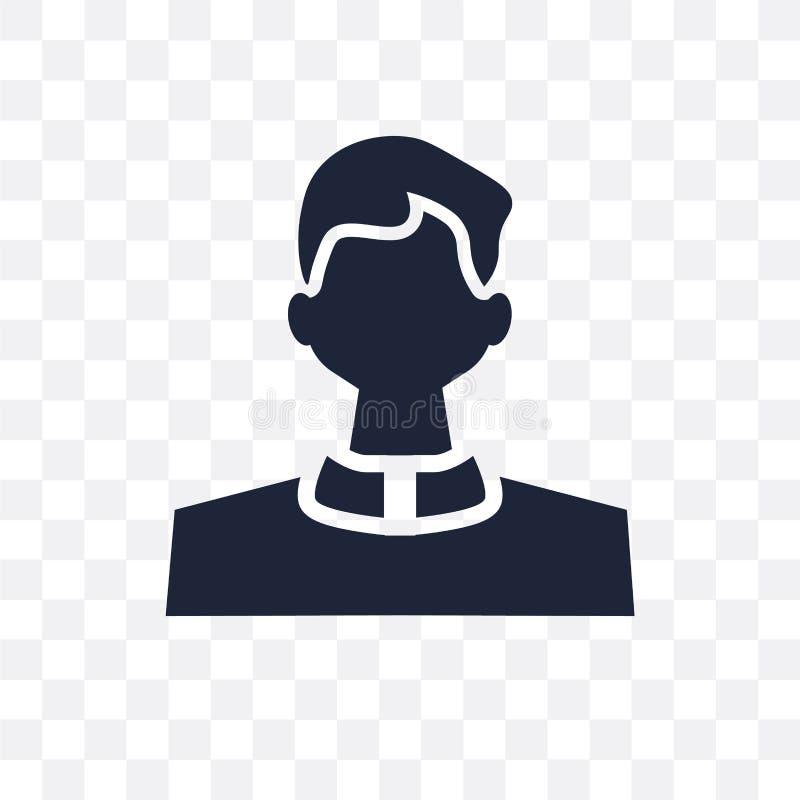 教士透明象 教士从宗教coll的标志设计 皇族释放例证