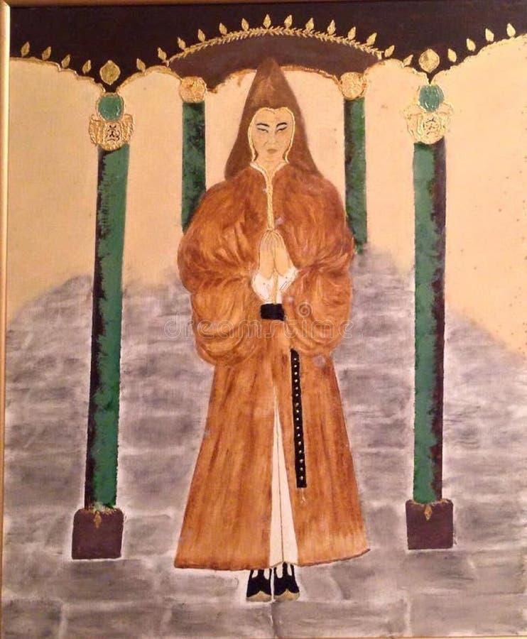 教士,圣徒,寺庙圣洁者,戴头巾人,虔诚 免版税图库摄影