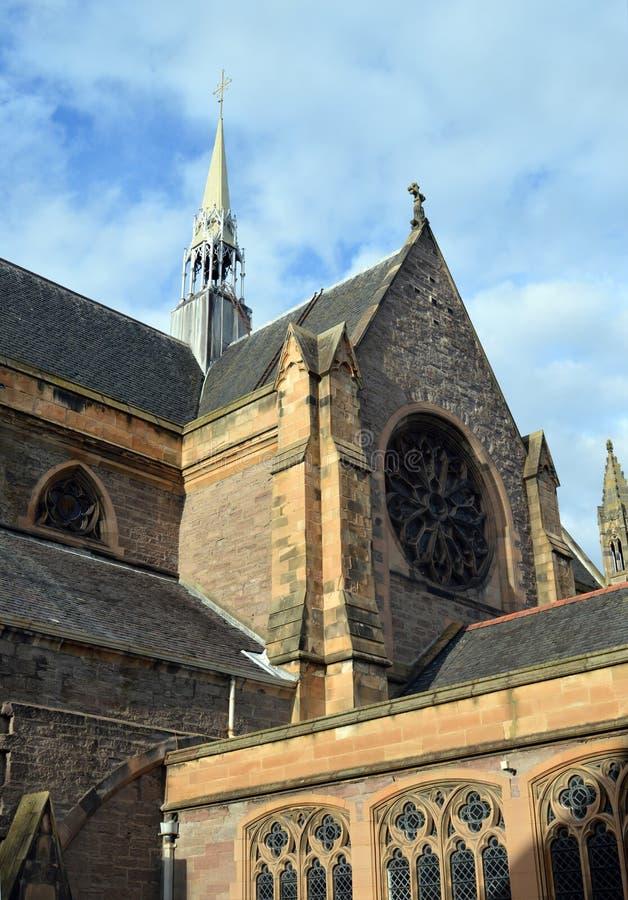 主教大教堂,珀斯,苏格兰 免版税库存图片
