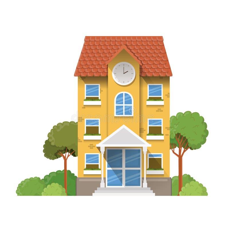 教学楼主要与风景 库存例证