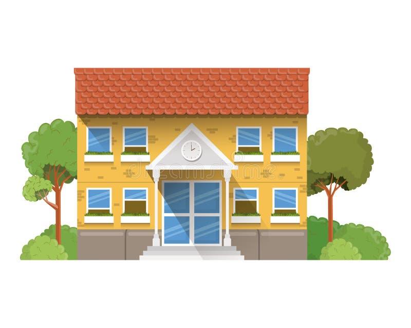 教学楼主要与风景 向量例证