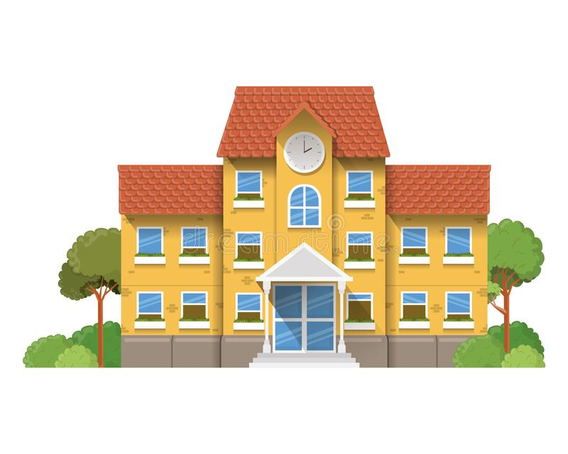 教学楼主要与风景 皇族释放例证