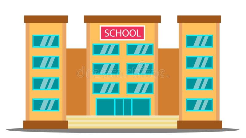 教学楼传染媒介 大学议院Fasade 学院正门 被隔绝的动画片例证 库存例证