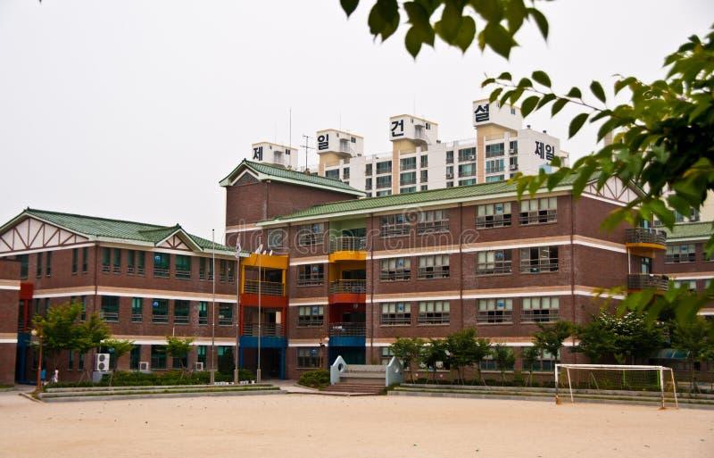 教学楼在韩国 库存照片