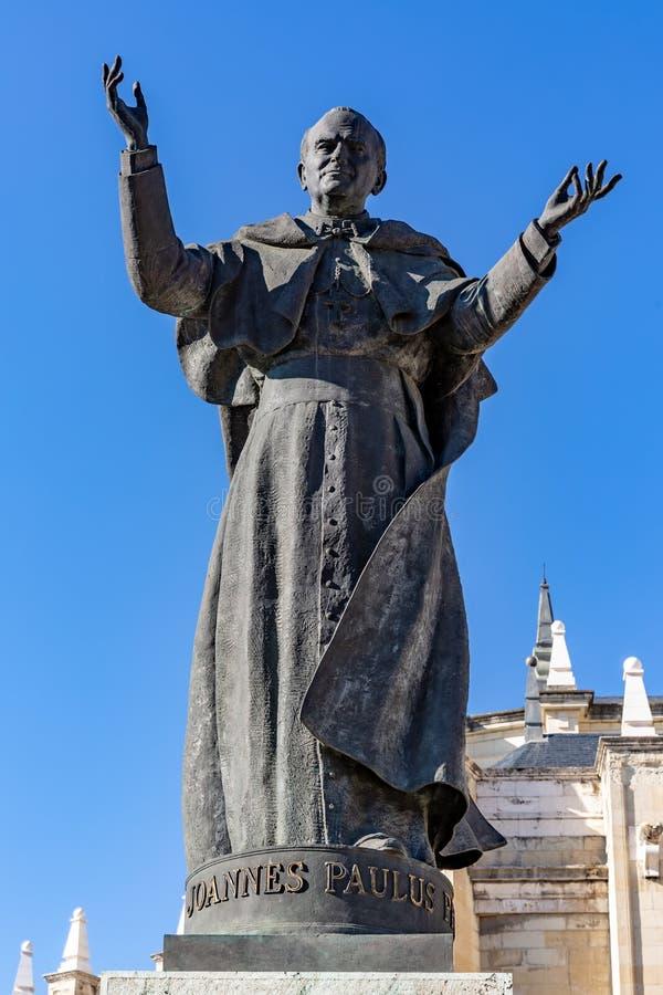 教宗若望保禄二世的纪念碑 在马德里 免版税库存照片