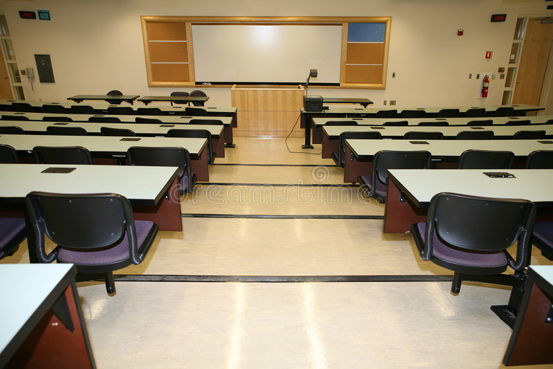 教室内部 免版税库存图片