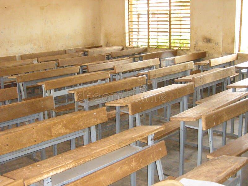 教室在布基纳法索的首都 免版税库存照片