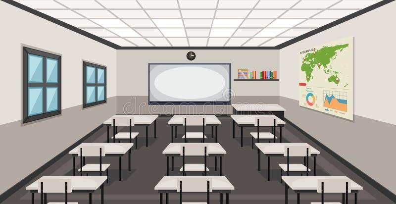 教室的内部 向量例证