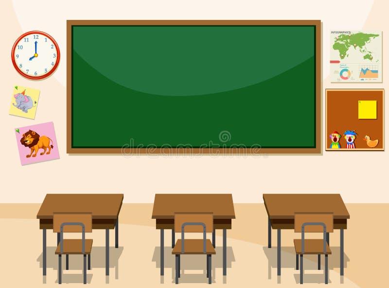 教室的内部 库存例证