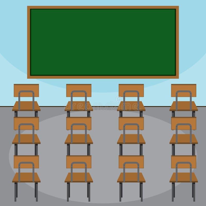教室的场面 皇族释放例证