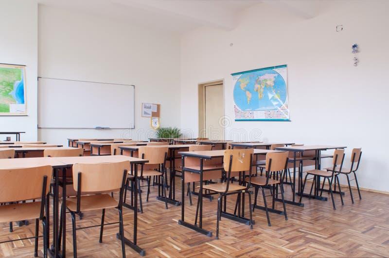 教室空的内部 免版税库存照片