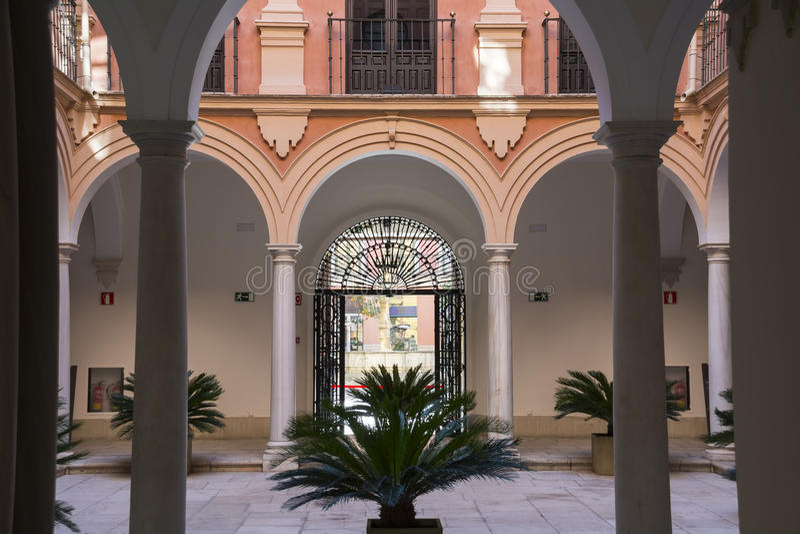 主教宫殿马拉加 库存照片