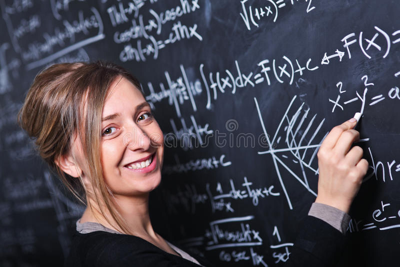 教师在工作 免版税图库摄影