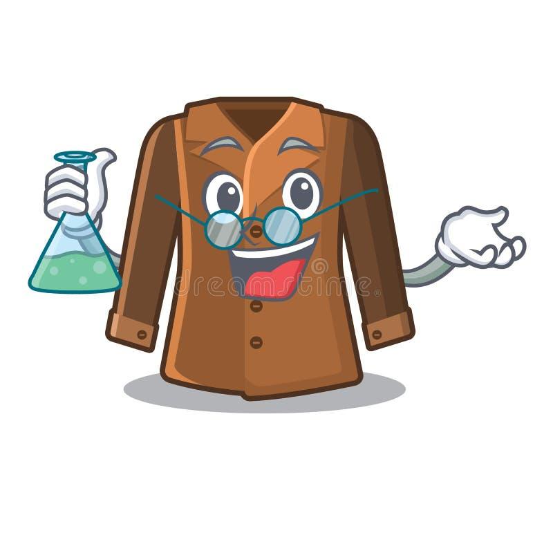 教授外套隔绝与在吉祥人 向量例证