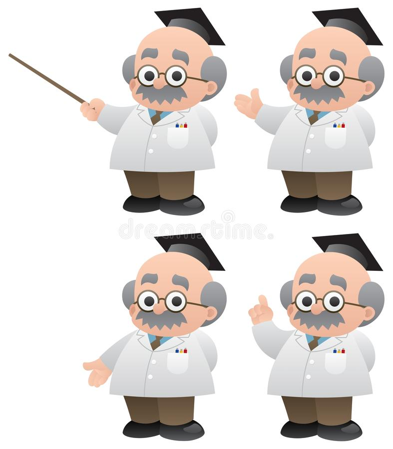 教授 库存例证