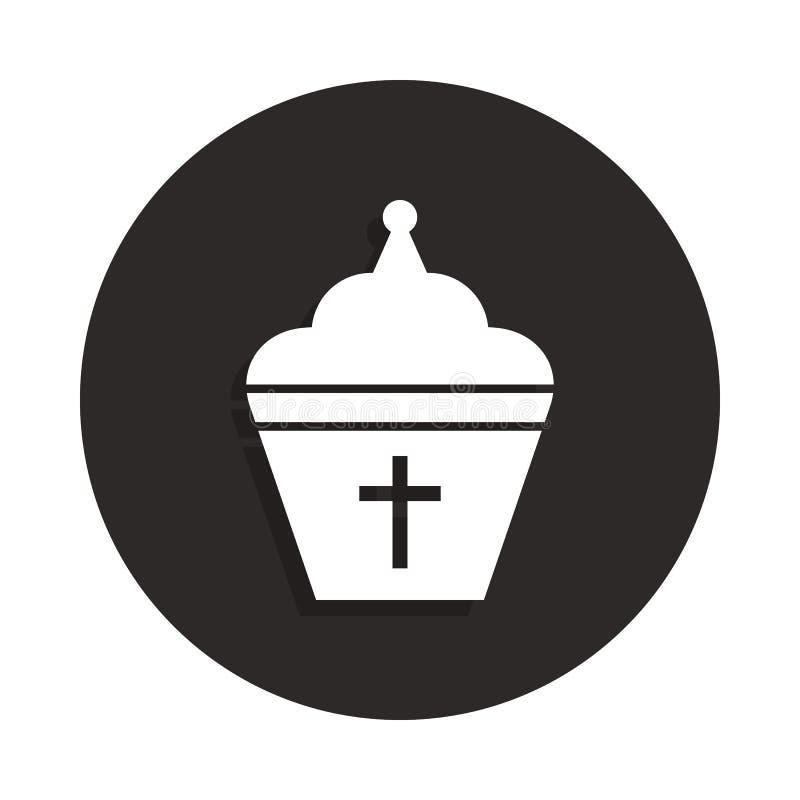 教皇在徽章样式的帽子象 一死亡汇集象可以为UI, UX使用 向量例证