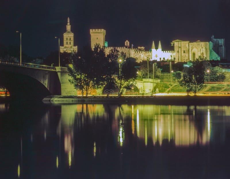 教皇宫殿在阿维尼翁,法国 库存照片