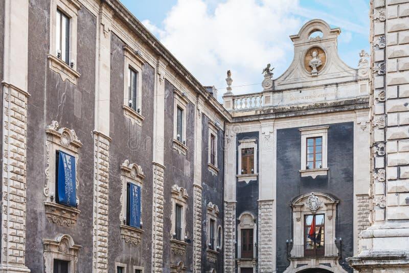 主教管区的博物馆在卡塔尼亚市,西西里岛 免版税库存照片