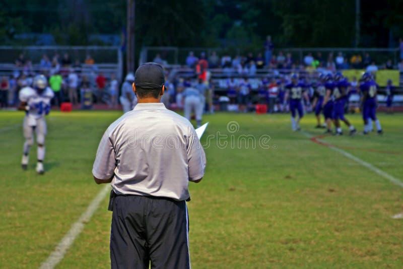 教练橄榄球 免版税库存图片