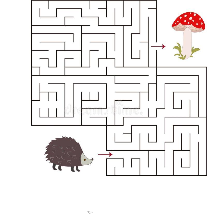 教育一场数学比赛 孩子的迷宫比赛 传染媒介与比赛的模板页 库存图片