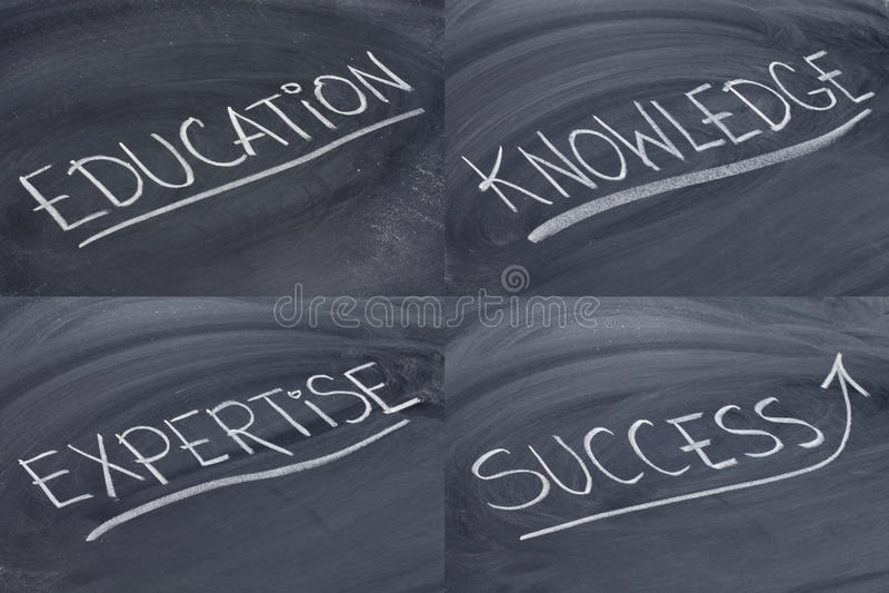 教育专门技术知识成功 库存图片