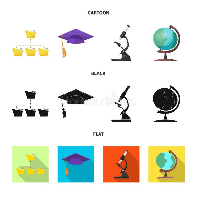 教育和学习标志的传染媒介例证 套教育和学校股票简名网的 皇族释放例证