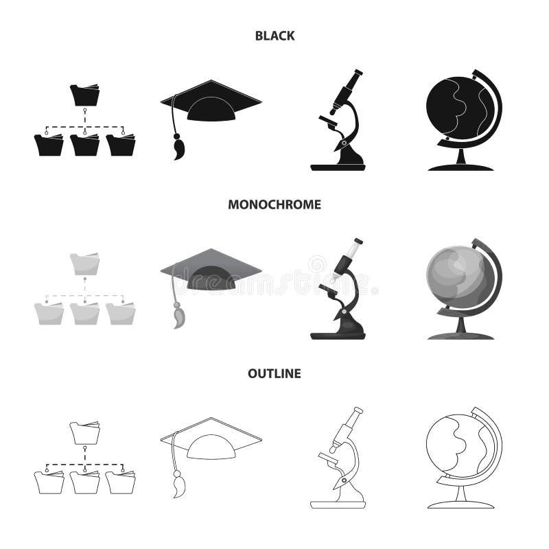教育和学习象被隔绝的对象  套教育和学校股票简名网的 库存例证