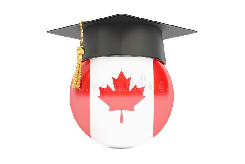 教育和研究在加拿大概念, 3D翻译 库存例证