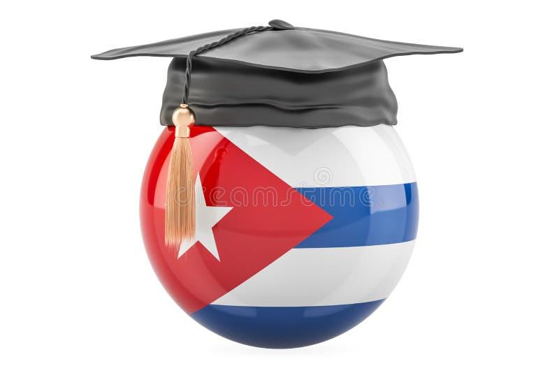 教育和研究在古巴概念, 3D 向量例证