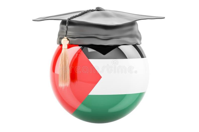 教育和研究在巴勒斯坦概念, 3D翻译 向量例证