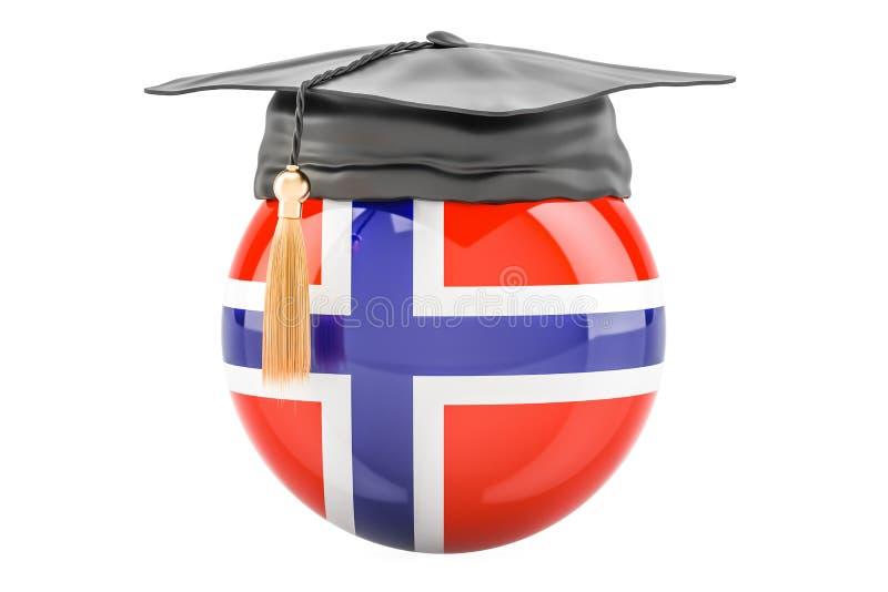 教育和研究在挪威概念, 3D翻译 皇族释放例证