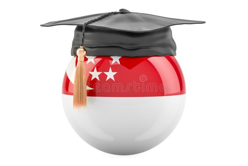 教育和研究在新加坡概念, 3D翻译 皇族释放例证